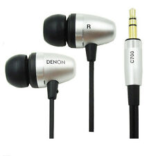 Denon AH-C700 In-Ear Earbud Headphones Earphone Aluminum Housing for iPhone iPod