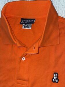 Psycho Bunny XL ORANGE 7 Men's Pima Cotton Short sleeve Polo Shirt