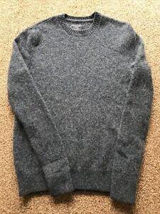 "Ladies Vintage Abercrombie & Fitch Blue Wool Jumper Crew Neck Size Medium 10 34"""
