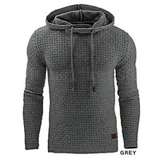 Men Warm Jacket Outwear Jumper Knitwear Coat Sweater Hooded Pullover Sweatshirt