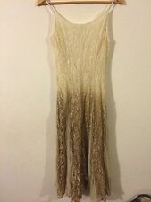 """Summer Dress 38"""" Chest Shimmer Gold Lace Panels strappy <R5764"""