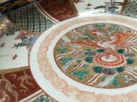 ANTIQUE Early JAPANESE IMARI Porcelain PLATE Charger Hand Painted