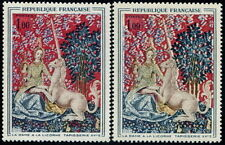 """FRANCE STAMP TIMBRE N° 1425 """"DAME LICORNE MUSEE CLUNY VARIETE COULEUR """" NEUFxx"""