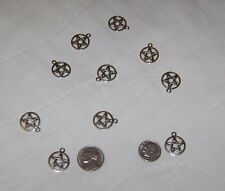 LOT OF 10 PEWTER PENTACLES WICCA/PAGAN/WITCH/CRAFTS