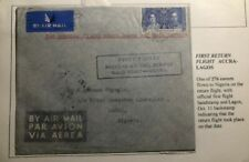 1937 Accra Gold Coast First Return Flight Cover FFC To Lagos Nigeria