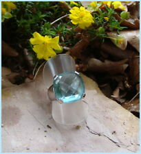 Gorgeous SWAROVSKI Merlin Blue Crystal Statement Cocktail Ring Size 55