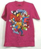 Disney Florida Women's Medium 8/10 Short Sleeve Crew Neck Tee Tshirt Hot Pink