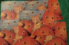 Candy Corn Cat Halloween Greeting Card Lot Of 5 With Emvelopes