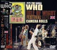 THE WHO / ISLE OF WIGHT FESTIVAL 1970 CAMERA ROLLS DVD /UNEDITED ROLL/DALTREY