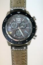 Fossil Herren JR1203 Chronograph grey Armbanduhr Lederband