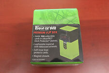 Force of Will  - Premium Flip Magnetic Deck Box - Green - New / Sealed