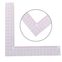 Tailor Drawing Craft Tool L-shape Ruler Sewing Square Curve Ruler PlasticGaug uW