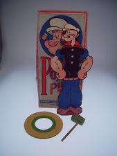 "GSCOM  ""POPEYE PIPE TOSS GAME"" 1935, 26 cm, PAPPE, LIKE NEW IN GOOD BOX "" !"