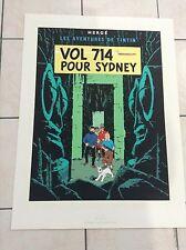 Sérigraphie Escale Tintin Vol 714 pour Sydney 1987 1500 ex ETAT NEUF