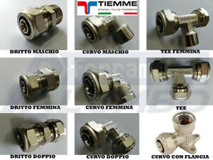RACCORDO PER TUBO MULTISTRATO A STRINGERE D.16-20 PER 1/2-3/4 POLLICE -TIEMME
