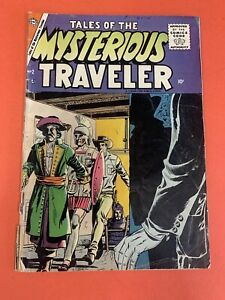 TALES OF THE MYSTERIOUS TRAVELER # 2 (1957 CHARLTON)  DITKO ART - LOW GRADE