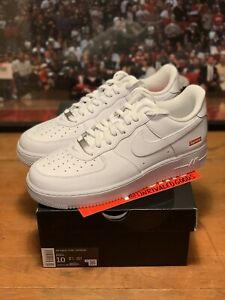 Nike Air Force 1 Low Supreme - White - Size 10 - Ships Now!