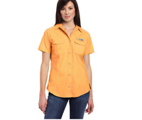 New Columbia Women's Bonehead Short Sleeve Fishing Hiking Shirt Large