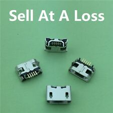10pcs G28 Micro USB 5pin Long Pin Jack Female Socket  Connector OX Horn Plain