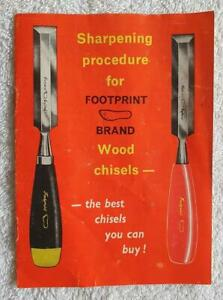 c.1971 INSTRUCTIONAL CHISEL BOOKLET  BY FOOTPRINT TOOLS OF SHEFFIELD