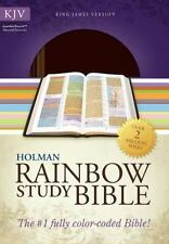 Holman KJV Rainbow Study Bible; 2013; Brown Chestnut Leather Touch
