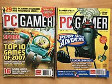 LOT OF 2 PC GAMER MAGAZINES, Jan. 2007 #157 and July 2007 #163