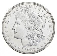 Choice AU/UNC 1921 Morgan Silver Dollar - Last Year of Issue - Great Luster *699