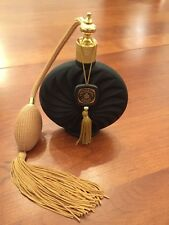 Black Opaque Glass Perfume Atomizer From Victoria's Secret. Gold Tone Details.