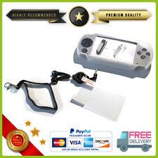 CUSTODIA COVER IN SILICONE PER SONY PSP PLAYSTATION + PELLICOLA + CUFFIE LACCIO