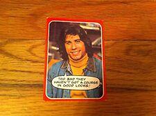1976 Welcome Back Kotter Trading Card #28 Vinnie Barbarino JOHN TRAVOLTA TV Show