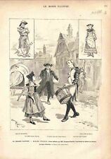 Paris Théâtre du Châtelet Madame Thérèse Drame Militaire Tambour de GRAVURE 1882