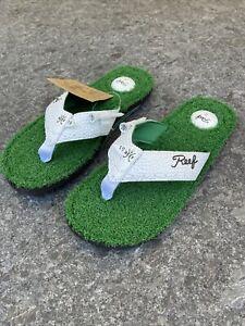 NEW Reef Mulligan II Flip Flop sz 8 Men's Bottle Opener Turf Sandals Golf