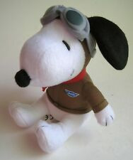 """Peanuts Snoopy Plush MetLife 2015 Advertising Promo Toy 7"""" Hat Scarf Goggles"""