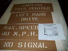 vehicule militaire us ww2 stencils pour bache de jeep véhicules us 39/45