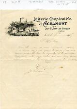 Dépt 86 - Agramont par St Jean de Sauves - Belle Entête d'une Laiterie de 1905