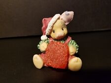 "Tlp ~ This Little Piggy ""sloppy holidays"" pig holding a big gumdrop/Santa hat"