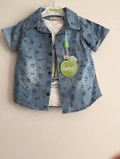 Infant Baby Boys Suit 3 Pc Outfit 36 Months Shirt Short T-shirt 100% Cotton