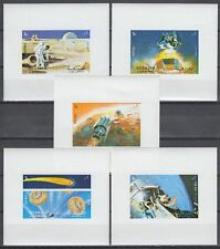 Sharjah 1972 ** mi.982/86 bloque conjunto de m/s espacio Space espacial Apolo 16