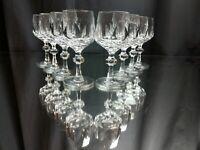 "SET OF 8! Gorham White Port Wine Glasses ""Alexandra"" NEAR MINT! Vintage Crystal"