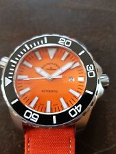 Zeno Professional Diver swiss made ETA, 500 m wasserdicht, orange