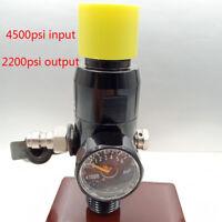 PCP Paintball Cylinder 4500psi Input Regulator M18x1.5 Tank Valve 2200psi Output