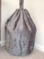 Cover only bean bag adult Silver Fox faux fur 6 cubic ft size soft toy storage