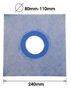 24cm AQUA BUILD Elastic Waterproof Sealing Sleeve Membrane Pipe Collar 8-11cm Ø