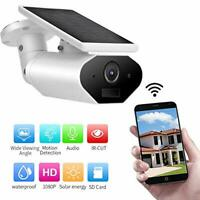 WIFI Security Camera System, 1080P Solar Powered IP  Night Vision