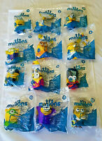 McDonald's 2015 Minions FULL Set OF 12 - NIP - ALSO AVAILABLE 2 ICE CAVE (#12)