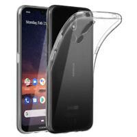 NOKIA 3.2 Silikon Schutz Hülle TPU Back Case Gel Cover - Transparent Klar