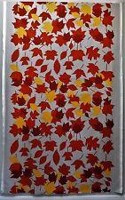 MARIMEKKO Syksyn Lehdet Gray Orange Leaf Print Pattern Cotton Fabric PER YARD