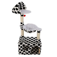 """47"""" Cat Tree Play House Tower Condo Furniture Scratch Post Toy Black Big Point"""