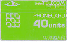 British TELECOM 40 units 924E