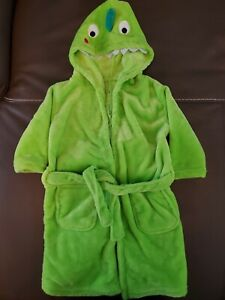 Baby Hooded bathrobe Dinosaur Color Flashy Green size M